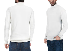 XMW-38087 | Classic Turtleneck Sweater Off White