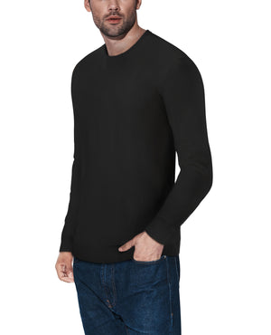 XMW-39136 | Classic Crewneck Sweater Black