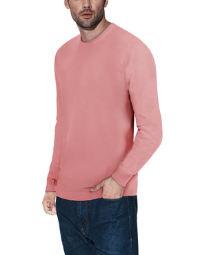 XMW-39136 | Classic Crewneck Sweater Dusty Mauve