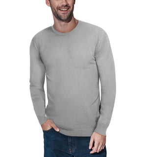 XMW-39136 | Classic Crewneck Sweater Heather Grey