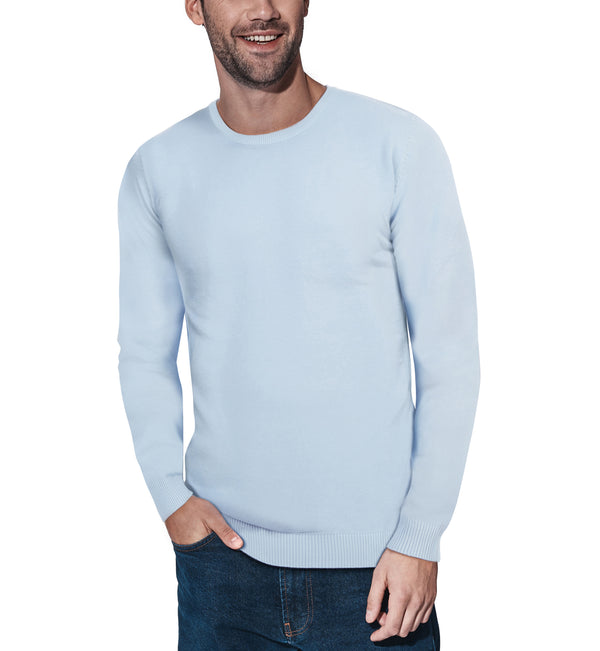 XMW-39136 | Classic Crewneck Sweater Powder Blue