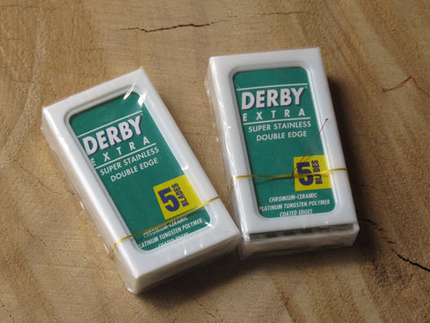 Derby double edged safety razor blades.