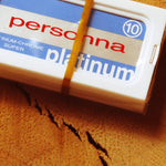 Personna double edged safety razor blades.