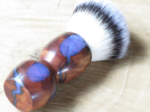 Kiaat/resin with 28 mm Synthetic silvertip  (CB175) - Bundubeard