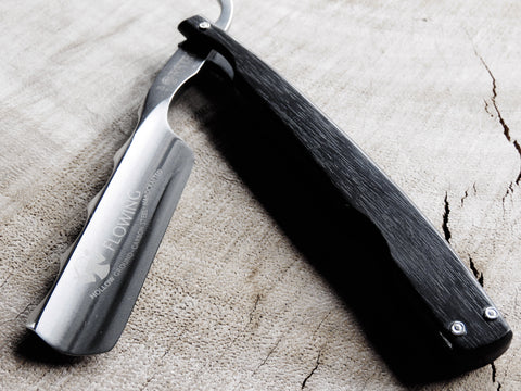 "Dovo straight razor 1186811 ""Flowing' with Ebony scales. - Bundubeard"