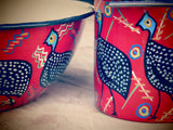 Hand painted African themed bowl and cup set. - Bundubeard