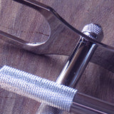 All metal stand in knurled chrome - Bundubeard