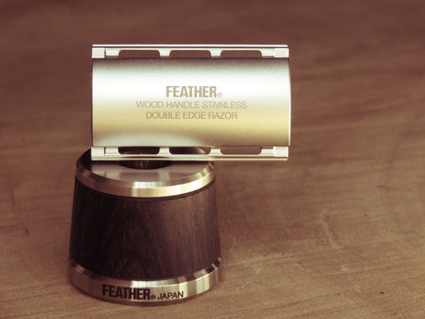 Feather WS-D2S Stainless Safety Razor with Stand - Bundubeard