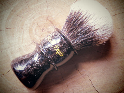 Black eagle Rhino slim in black feathers 25 mm - Bundubeard