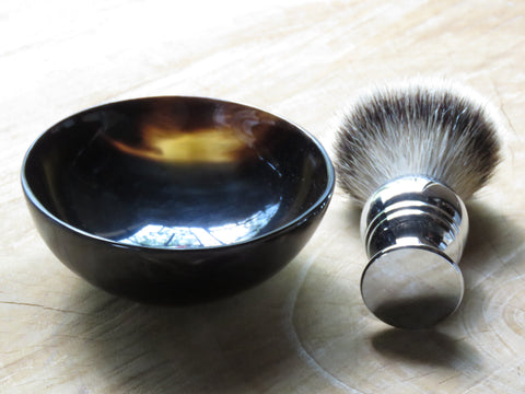 Cattle horn lathering bowl/shaving soap bowl by Pearl shaving - Bundubeard
