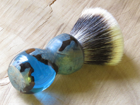 Hardekool burl in blue resin (CB106) - Bundubeard