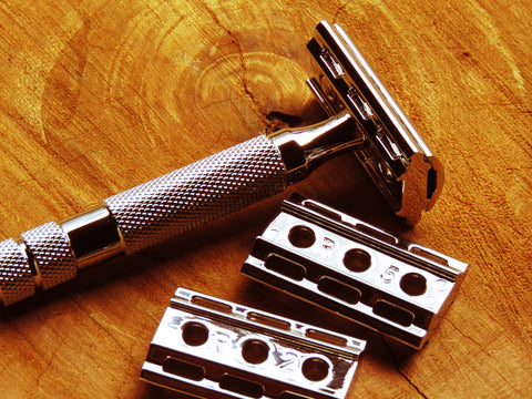 Rockwell razor Model 6C (White chrome finish) - Bundubeard