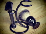 Razor and brush stand, roundbar in hard chrome finish - Bundubeard