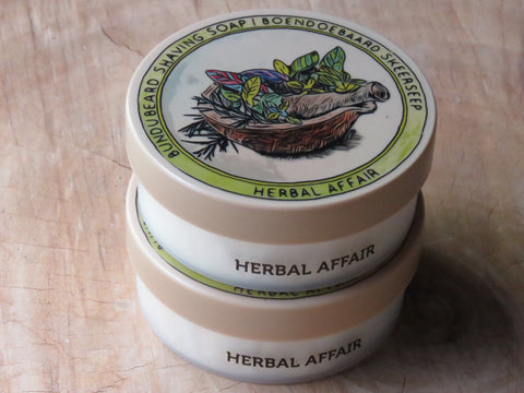Herbal affair shaving soap. - Bundubeard