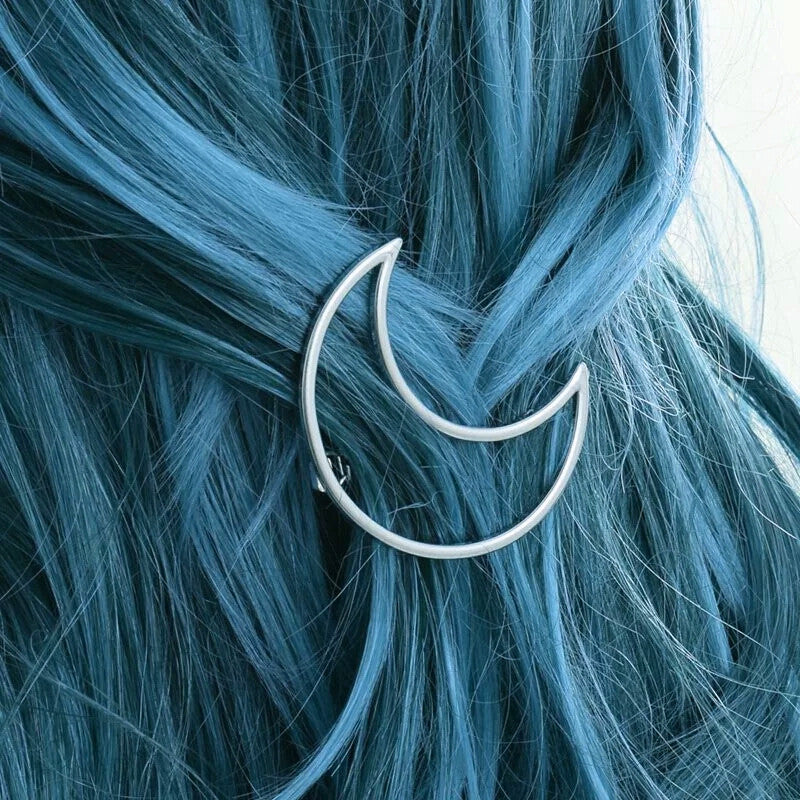 Diane Hair Clip - Witchy Witch Wiccan wicca symbol Strega Simple Silver Rock Nu-goth Moon Metal magic Hair Gothic Goth Delicate Accessory