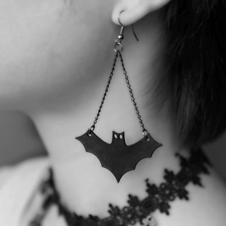 Happy Halloween! Bat Earrings