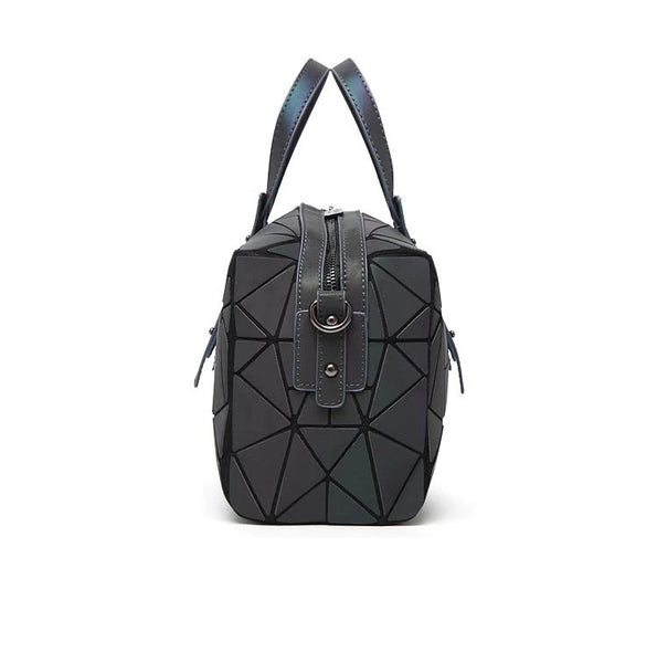 Bismuth Bowling Bag - Streetgoth Street Reflective Reflect Rainbow Post-apocalyptic Nu-goth Metal Matte Matt Industrial Handbag HAnd bag Grunge Gothic Goth Geometric Futuristic Drawstring Bags Bag Accessory