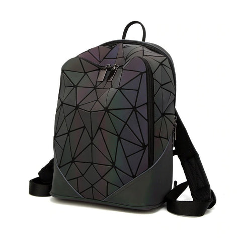 Bismuth Rucksack - Backpack Rucksack Streetgoth Street Reflective Reflect Rainbow Post-apocalyptic Nu-goth Metal Matte Matt Industrial Handbag HAnd bag Grunge Gothic Goth Geometric Futuristic Bags Bag Accessory