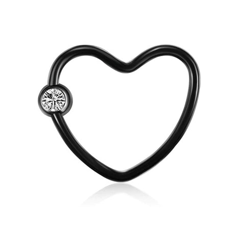 Black Heart Daith Jewellery