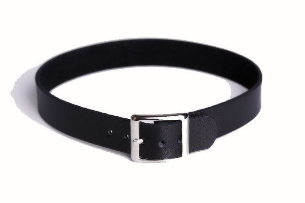 Vega Choker Collar - Slave collar Simple S&M Role-Play PU Nu-goth Leather Goth Faux-leather Choker Bondage Black BDSM