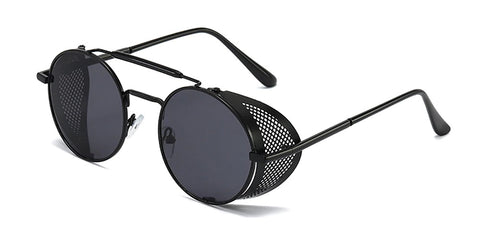 Carbon Sunglasses - Street  Streetgoth  Grunge  Witch  Post-apocalyptic  Futuristic  Industrial  Sunglasses  Sun  skeleton  Round  Rock  Nu-goth  Metal  Gothic  Goth  Glasses  Festival  Black  Accessory