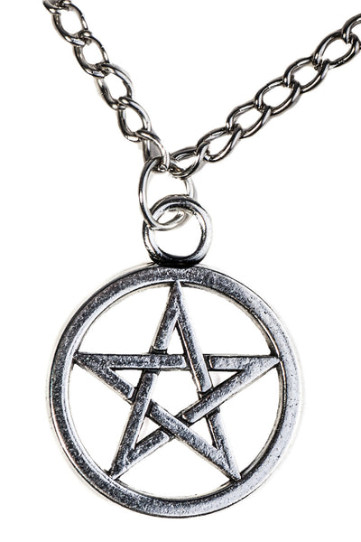 Cerridwen Necklace - Metal Rock symbol Witchy Witch wicca sweater Strega Simple Silver Pentagram Nu-goth Long necklace long jumper Gothic Goth Classic