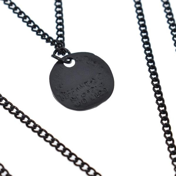 Persephone -wicca Wiccan Witch Witchy symbol Street Streetgoth Strega Rock magic Matt Matte Matte Black occult Nu-goth Pastel Goth Long necklace Layered Accessory Black moon crescent Pagan Necklace Metal Gothic Goth Chain