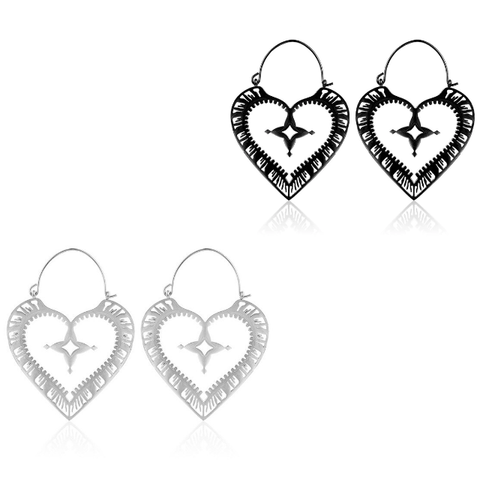 Sacred Heart Hoop Earrings