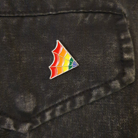 Spider Web Pride Pin Badge