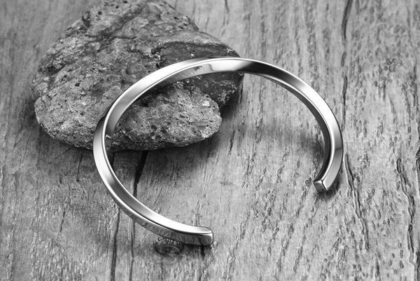 Bangle Stud Steel Stainless Steel Silver Rock Metal Industrial Gothic Goth Futuristic Classic Bracelet Black
