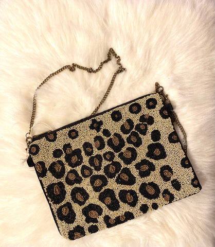 Cheetah Beaded Bags