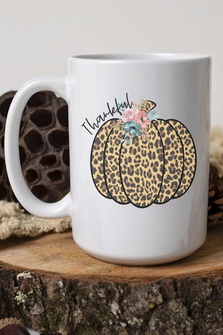 Thankful Cheetah Pumpkin Mug