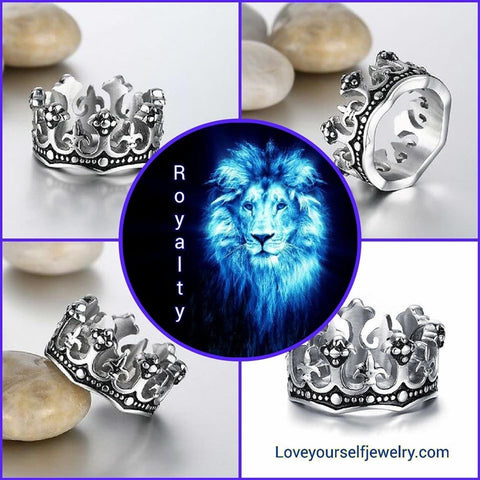 Royalty: Gorgeous stainless steel crown ring