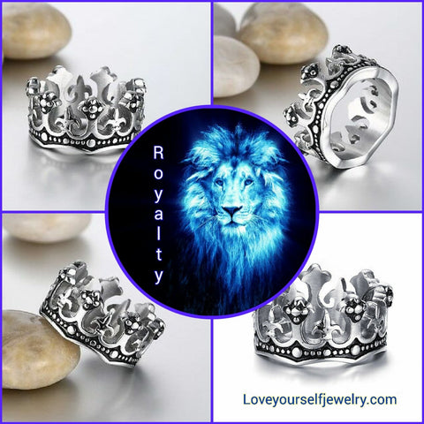 """ Royalty"" gorgeous ornate wide silver  crown ring size 5 thru 10 avaiable"