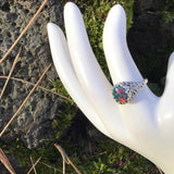 """Dream"" stunning fire opal set in solid ornate sterling silver $58"