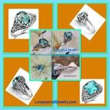 Stunning Aquamarine rings, set in Exquisite ornate sterling silver..your choice $58 each
