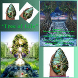 """Tree of Life"" Ring  gorgeous labradorite set in solid sterling silver with wire wrapped tree. Sz 9.5"