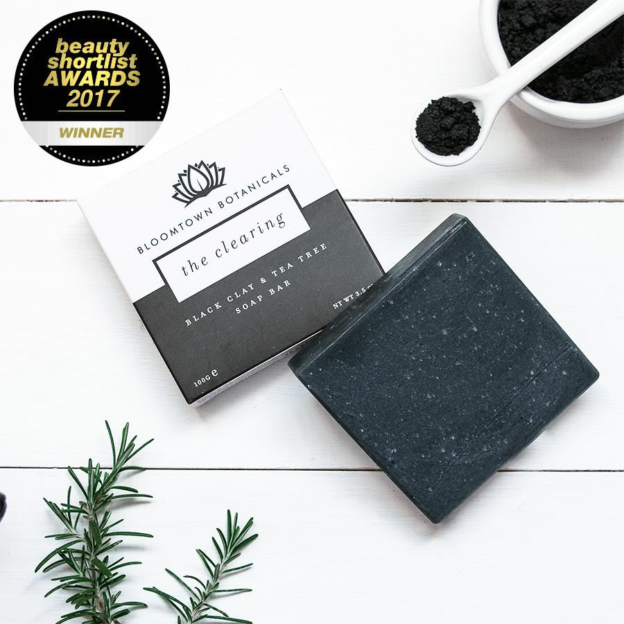 The Clearing: Black Clay & Tea Tree Soap Bar - Bloomtown Botanicals
