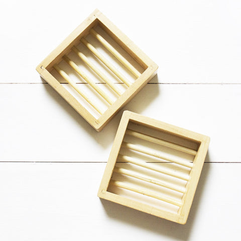 Eco-Friendly Square Wooden Soap Dish - Bloomtown Botanicals