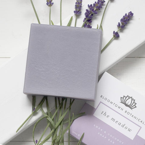 Nourishing Soap Bar: The Meadow (Lavender & Rose Geranium) - Bloomtown Botanicals