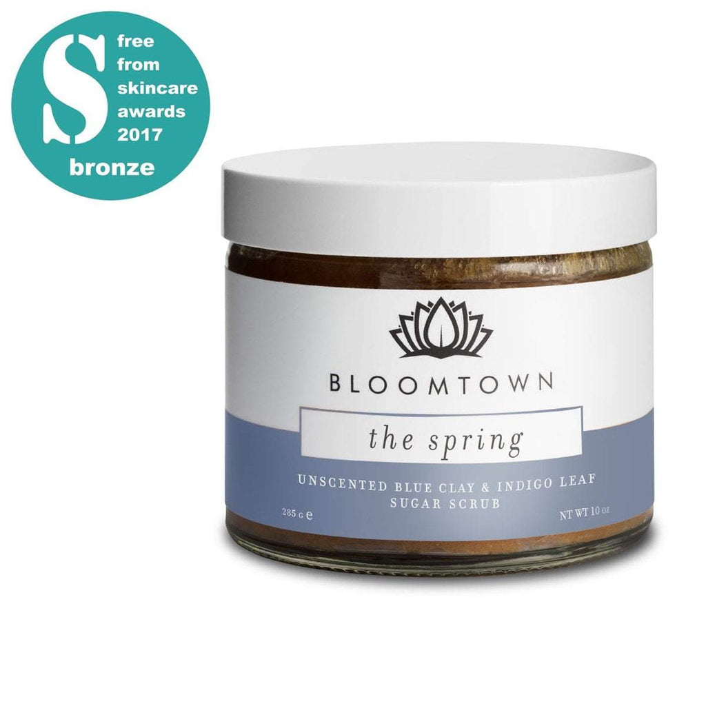 Exfoliating & Moisturising Sugar Scrub: The Spring (Unscented, Soothing Blue Clay & Indigo Leaf)