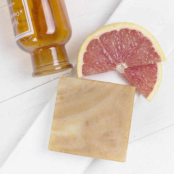 Nourishing Soap Bar: The Grove (Blood Orange & Pink Grapefruit) - Bloomtown Botanicals