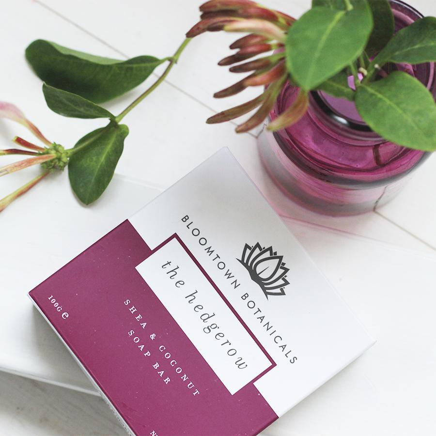 Nourishing Soap Bar: The Hedgerow (Blackberry & Honeysuckle) - Bloomtown Botanicals