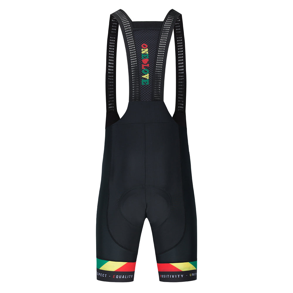 Luxe Marley Bib Shorts Men/Unisex  OOPS- Slight ink bleed on the power bands** NO RETURNS OR REFUNDS