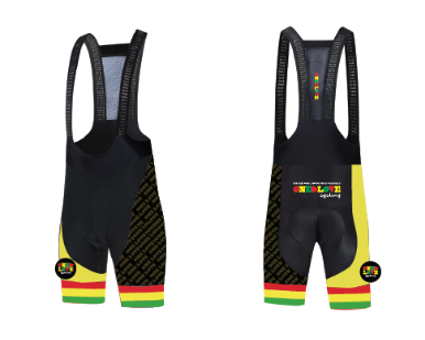 A5  Deluxe Original Bib Shorts With Yellow Panel & Luxe Black mesh strap -Men/Unisex