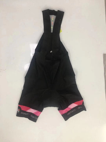 Black and Pink Matching  Bib Shorts Women