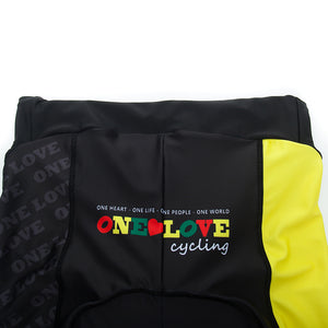 A5  Deluxe Original Bib Shorts With Yellow Panel & Luxe Black mesh strap -Women