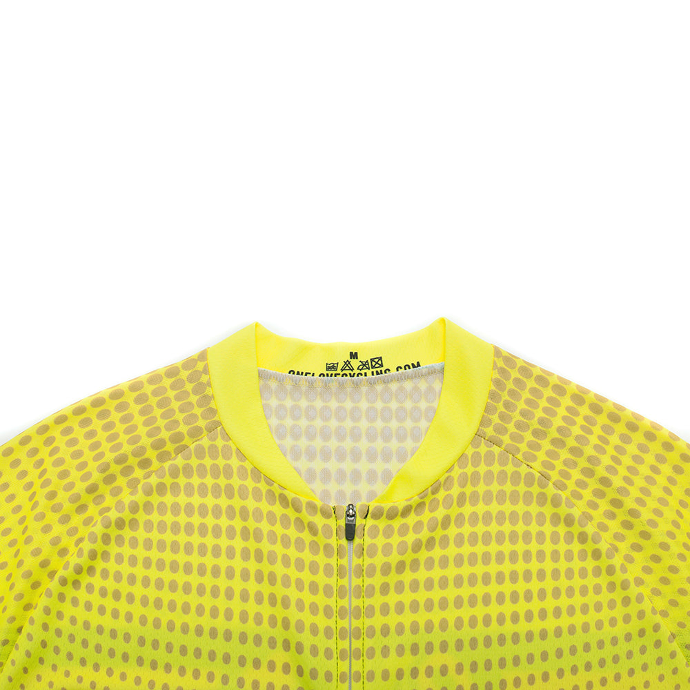 A4 Yellow and Polka Dots- Men/Unisex