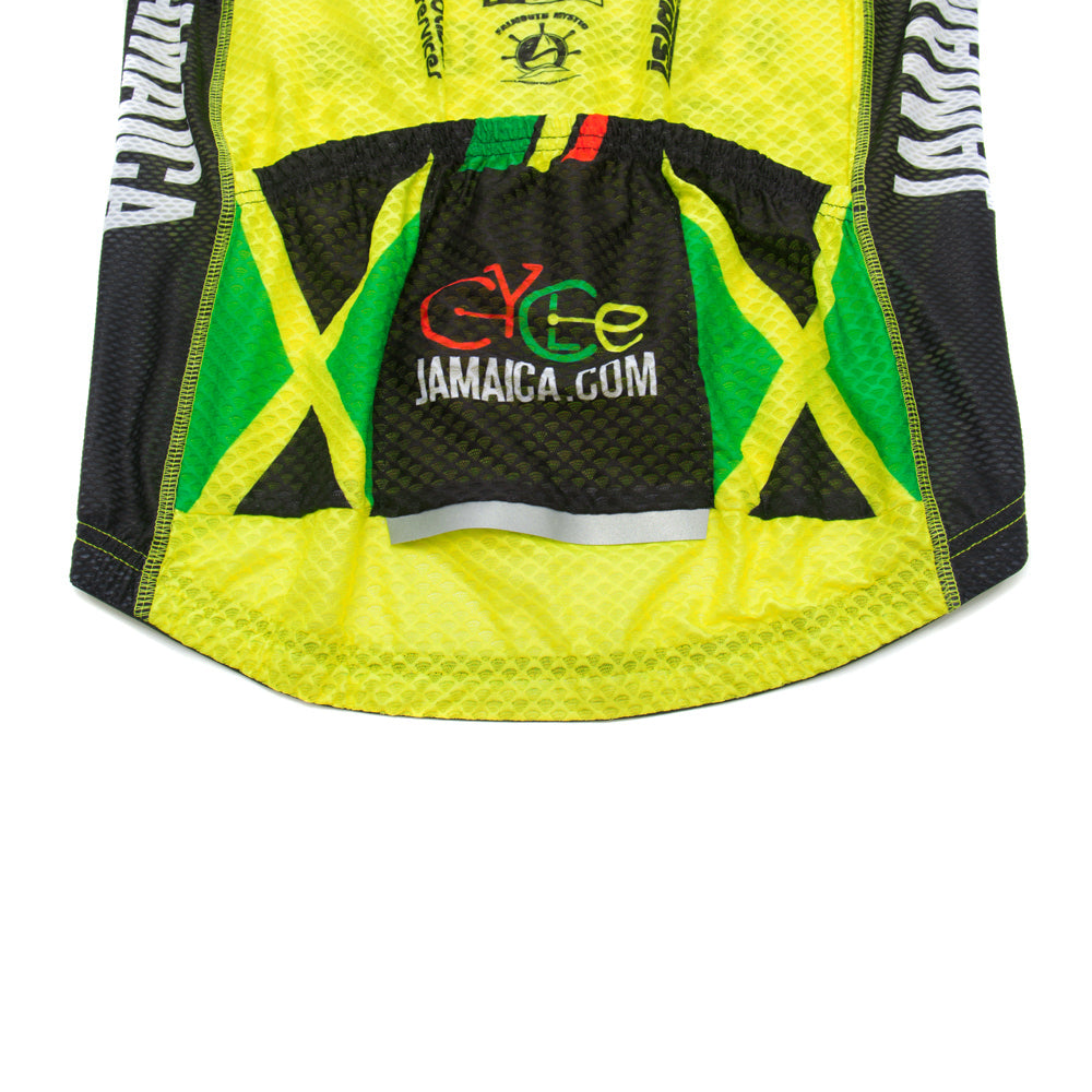 A5 Jamaica Racing Jersey- Yellow - Men/Unisex