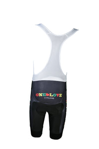 Black V Matching Bib Shorts- Women